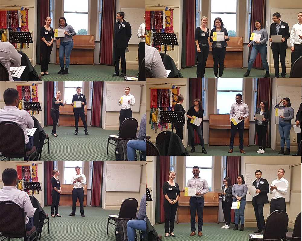 Toastmasters Contest - All Contestants